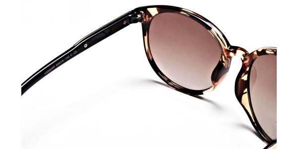 Oversized Rectangular Sunglasses in Tortoiseshell - 3