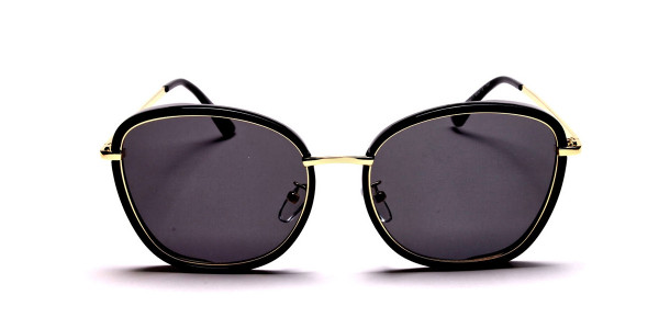 Black and Gold Oversized Sunglasses