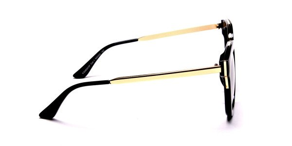 Black and Gold Simple Sunglasses - 3