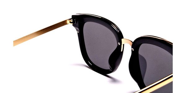 Black and Gold Simple Sunglasses - 4