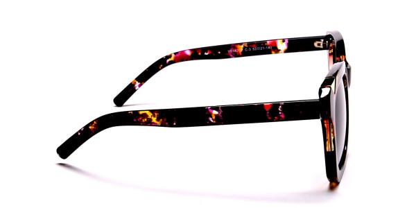 Tortoiseshell Unique Sunglasses -3