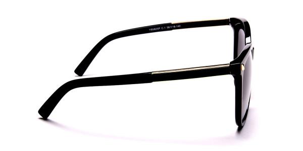 Black & Gold Chic Sunglasses -3