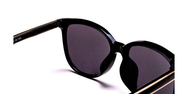 Black & Gold Chic Sunglasses -4