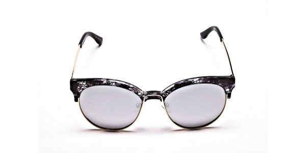 Gold & Silver-Grey Marbled Bowline Sunglasses