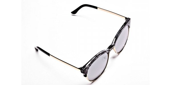 Gold & Silver-Grey Marbled Bowline Sunglasses- 1