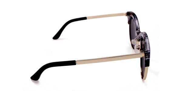 Gold & Silver-Grey Marbled Bowline Sunglasses-3
