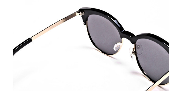 Gold & Black Browline Sunglasses -4