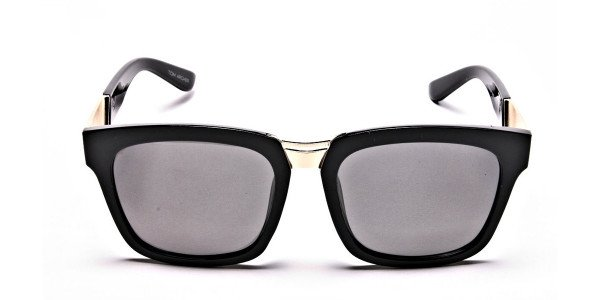 Wayfarers Black and Grey Sunglasses