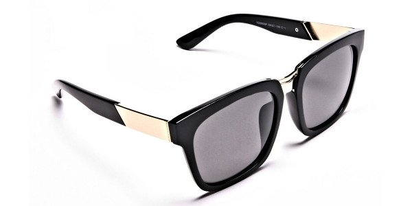 Wayfarers Black and Grey Sunglasses -1