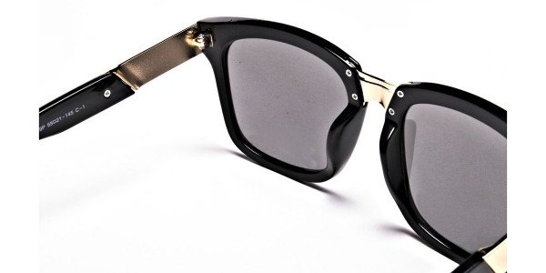 Wayfarers Black and Grey Sunglasses -4