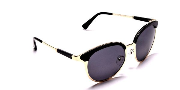 GOLD ROUND Sunglasses -1