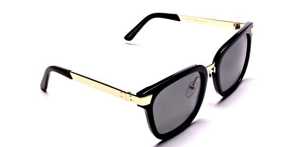 Gold Sides & Black Front Sunglasses -1