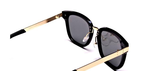Gold Sides & Black Front Sunglasses -4