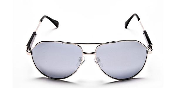 Silver & Grey Mens Sunglasses