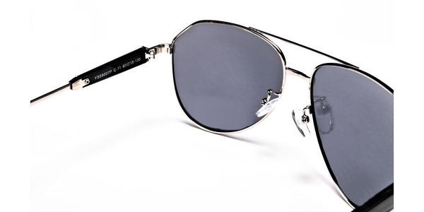 Silver & Grey Mens Sunglasses -5