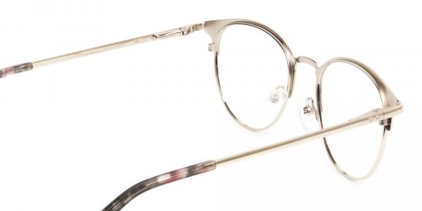 Keyhole Burgundy Browline Glasses in Round Men Women - 5