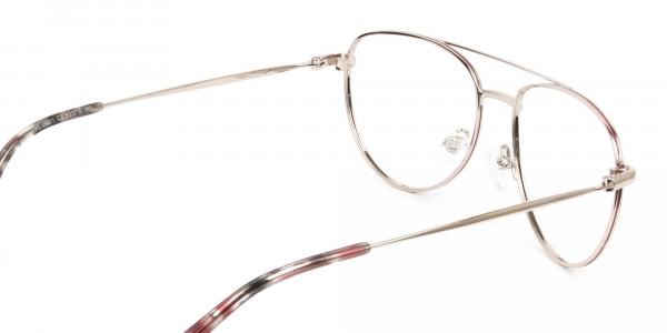 Gold Red Aviator Glasses in Metal - 5