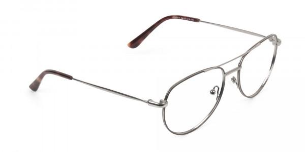 Brown Gunmetal Aviator Glasses - 2