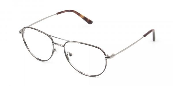 Brown Gunmetal Aviator Glasses  - 3