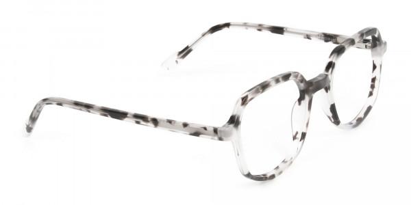 Spotty Black Heptagon Glasses - 2