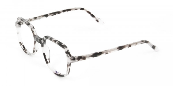 Spotty Black Heptagon Glasses - 3