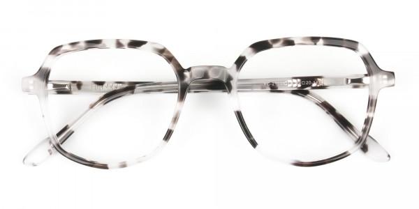 Spotty Black Heptagon Glasses - 6