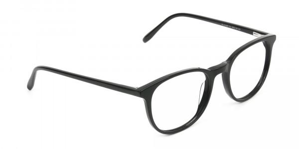 Round Black Eyeglasses in Full-Rim - 2