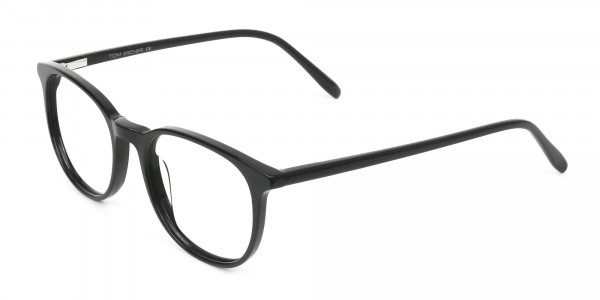 Round Black Eyeglasses in Full-Rim - 3