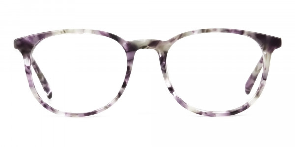 Round Marble Grey Glasses Frames - 1