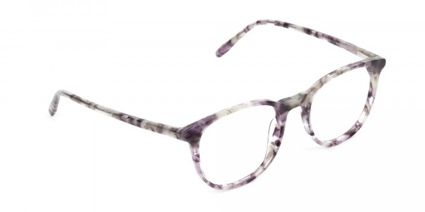 Round Marble Grey Glasses Frames - 2