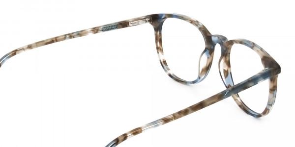 Tortoiseshell Brown and Blue Frame Glasses - 5