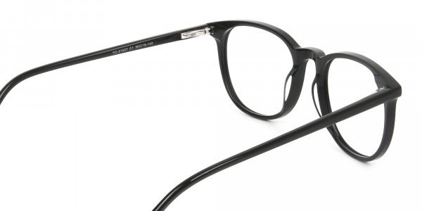 Round Black Eyeglasses in Full-Rim - 5