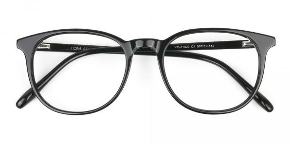 Round Black Eyeglasses in Full-Rim - 6