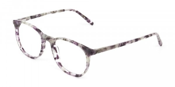 Round Marble Grey Glasses Frames - 3