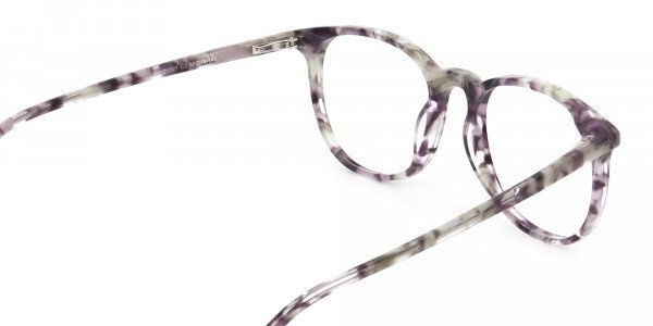 Round Marble Grey Glasses Frames - 5