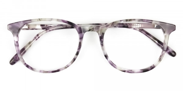 Round Marble Grey Glasses Frames - 6
