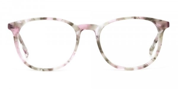Round Marble Red Frames Glasses - 1