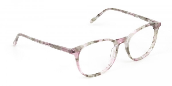 Round Marble Red Frames Glasses - 2
