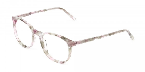 Round Marble Red Frames Glasses - 3