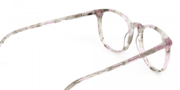 Round Marble Red Frames Glasses - 4