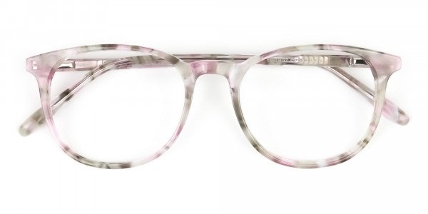 Round Marble Red Frames Glasses - 6