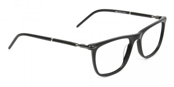Geek Black Rectangular Spectacles in Acetate - 2