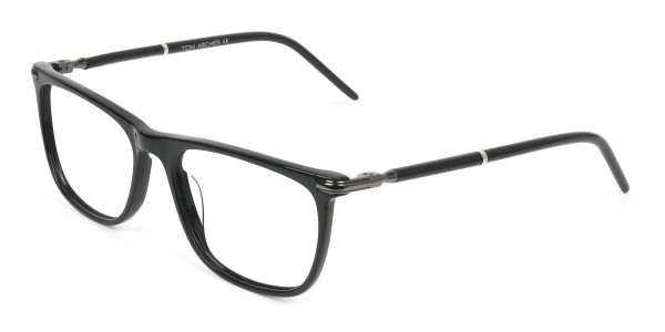 Geek Black Rectangular Spectacles in Acetate - 3