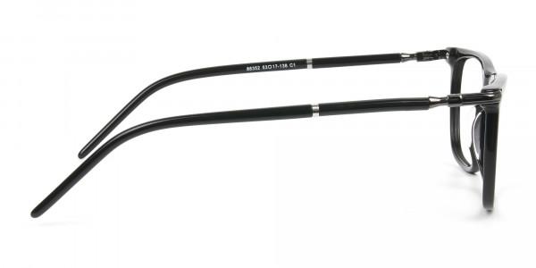Geek Black Rectangular Spectacles in Acetate - 4
