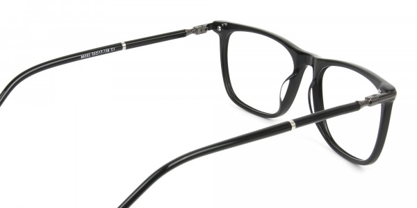 Geek Black Rectangular Spectacles in Acetate - 5