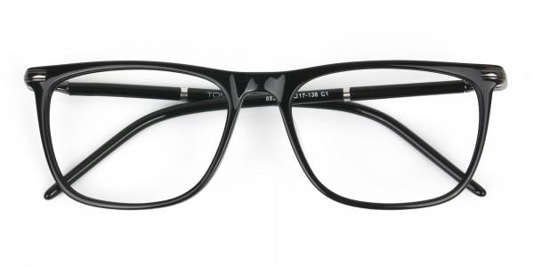 Geek Black Rectangular Spectacles in Acetate - 6