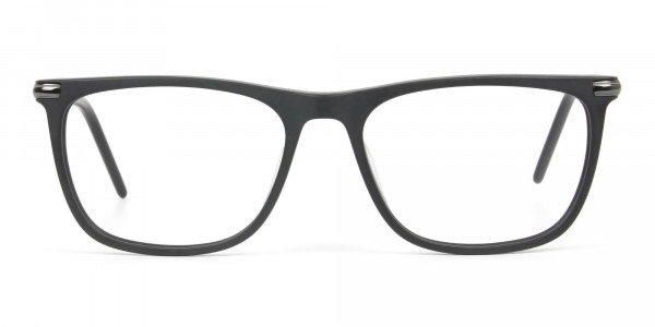 Matte Grey Rectangular Spectacles in Acetate - 1