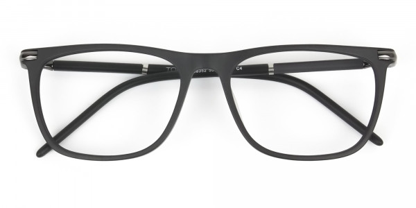 Matte Grey Rectangular Spectacles in Acetate - 6