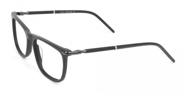 Matte Grey Rectangular Spectacles in Acetate - 3