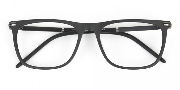Matte Grey Rectangular Spectacles in Acetate - 6